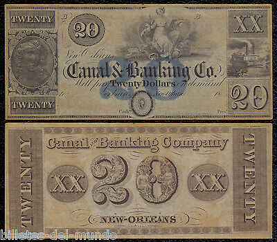B-D-M United States  Obsolete Currency 20 dollars 1800´s Canal & BankIng CO.