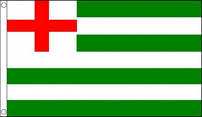 TUDOR NAVY ENSIGN FLAG 5' x 3' Red St George Cross Green and White Flags