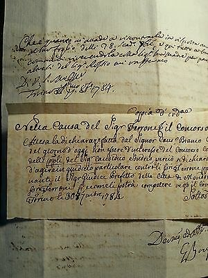 Lot Of Two Italian Letters  1784