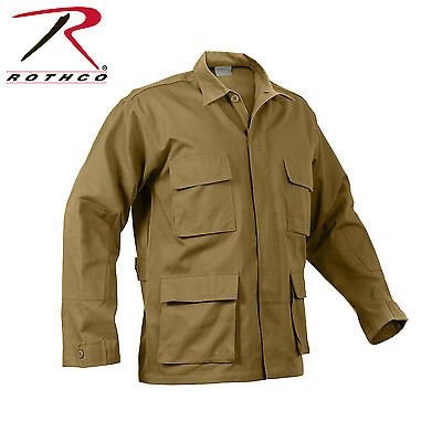 8508 Rothco Poly/Cotton Twill Solid BDU Shirts - Coyote Brown