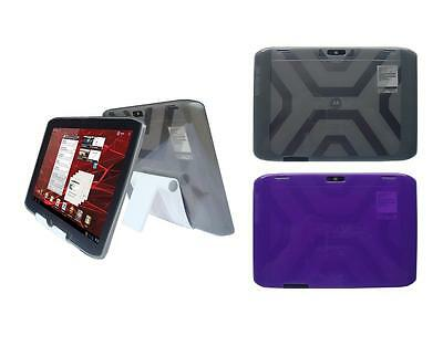 """View Stand Holder + TPU Gel Skin Case Cover for Motorola Droid Xyboard 10.1"""""""