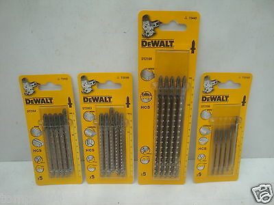 4 Packs Of 5 Dewalt Wood Cutting Jigsaw Blades Dt2053 Dt2168 Dt2164 Dt2169