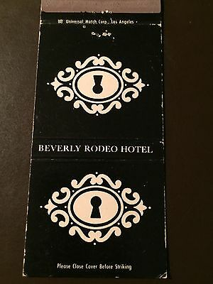 Beverly Rodeo Hotel of Beverly Hills, Ca. Vintage Matchbook Cover
