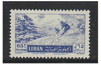 Lebanon - 1955, 65p Air stamp - V/L/M - SG 525