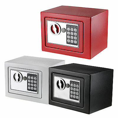 New Digital Electronic Safe Security Box Wall Jewelry Cash Black / White Color
