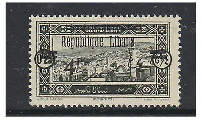 Lebanon - 1927, 4p on 0p25 (LIBANA Surch ISE missing) - V/L/M - SG 110