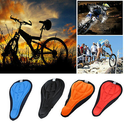 Cycling Bicycle Bike Silicone Saddle Seat Cover Silica Gel Cushion Soft Pad #P