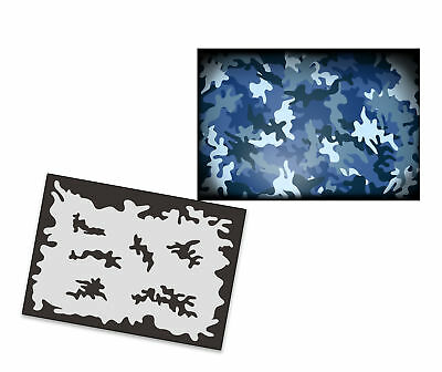 Single Step Stencil AS-249 Camouflage ~ UMR Airbrush Stencil