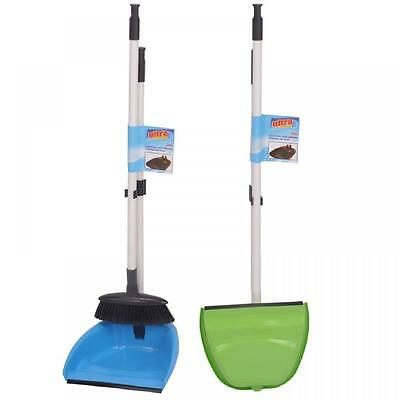 New Folding Long Handle Dustpan Dust Pan And Brush Set Garden Broom Sweeper