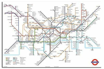Transport For London Underground Tube Map Poster New - Maxi Size 91cm x 61.5cm