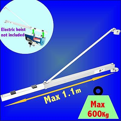 Electric Hoist Extending Support Arm winch scaffold mount lifting pole bracket