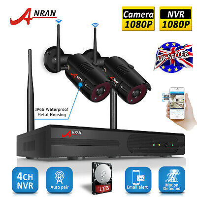 4CH 720P WIFI Wireless Home CCTV Camera Security System 1080P NVR Surveillance