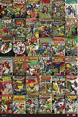 A572 Silk Poster fabric 24x36 Marvel Comics Classic Stan Lee Collage Funny decor