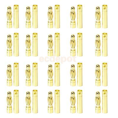 20 Pairs 4mm Gold-plated Male Female Banana Plug RC Motor Electronic Connector
