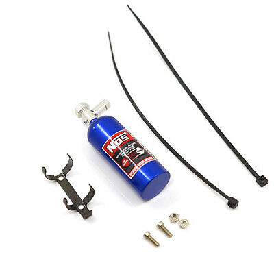 NOS - BLUE nitrous bottle weight w decals for 1:10 RC may fit Axial Tamiya HPI