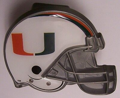 Trailer Hitch Cover NCAA Miami Hurricanes NEW Metal Football Helmet