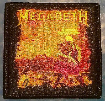 MEGADETH peace sells who's buying EMBROIDERED IRON-ON PATCH *Free Shipping p1146