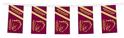 NRL BRISBANE BRONCOS Bunting hanging Flag Banner 5m long with 12 flags man cave