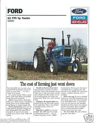 Farm Tractor Brochure - Ford - 5900 - c1988 - Disk Picture (F3759)