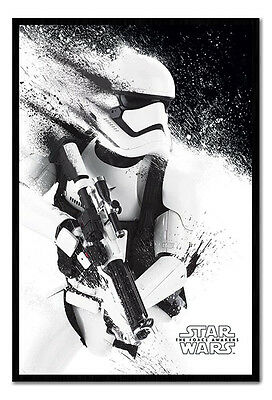 Framed Star Wars Episode 7 The Force Awakens Stormtrooper Paint Poster New