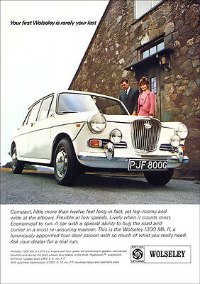 WOLSELEY 1300 mk2 RETRO A3 POSTER PRINT FROM CLASSIC 60'S ADVERT