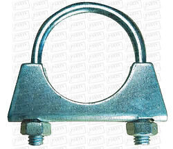 """3 1/2"""" 89mm Exhaust Clamp M8 Universal U Clamp Bolt Auto"""