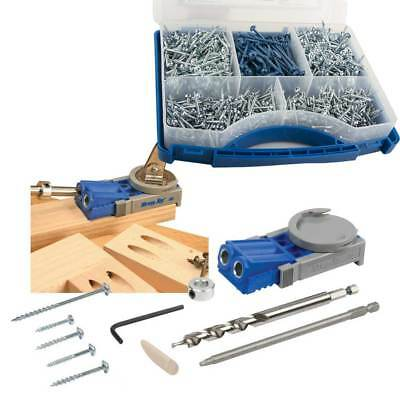 Kreg Junior Pocket Jig Hole Wood Joinery Kit R3 with 675 Screws Woodwork Joint