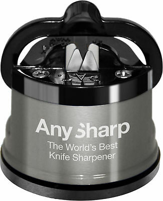 AnySharp Knife Sharpener Pro Metal Pull Through Straight Serrated Genuine New
