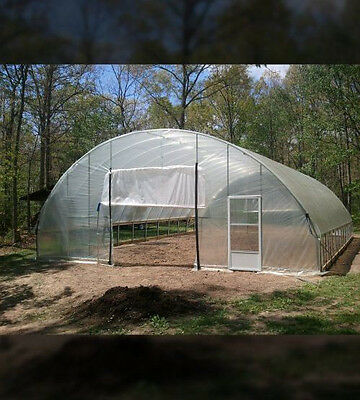 32 x 48 ft - Greenhouse 3ft Sidewall Super Duty Cold Frame High Tunnel Kit NRCS