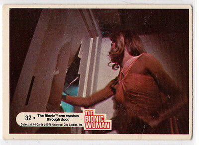 THE BIONIC WOMAN 1976 VINTAGE TRADING CARD  # 32 GREAT CDONDITION   MADE IN USA