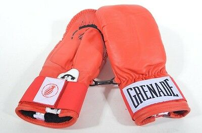 2016 NWT MENS GRENADE KASSIUS BOXING MITTENS GLOVES $120 red soft white leather