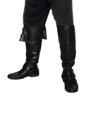 Adult Mens Pirate Bootcovers Smiffys Fancy Dress Costume