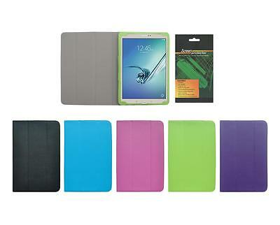 """Folio Skin Cover Case and Screen Protector for Samsung Galaxy Tab S2 9.7"""" T810"""
