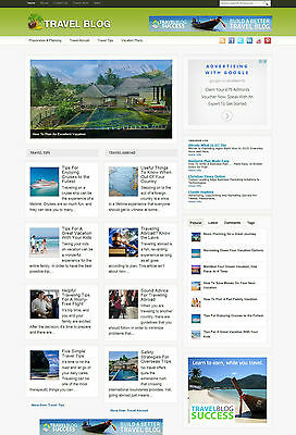 Travel Blog Website For Sale With Free Domain And Affiliate Options