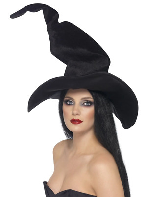 Witches Hat Black Halloween Party Hen NIght Fancy Dress Costume Accessory