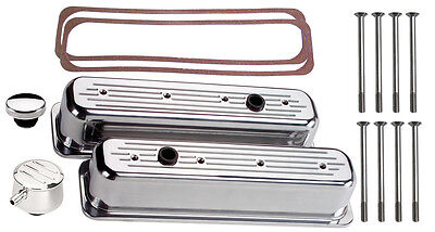 Billet Specialties Polished Tall Valve Covers,sbc Center Bolt,milled,pcv Breath.