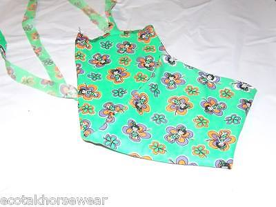 green patterned print rugless lycra tail bag larger mini size