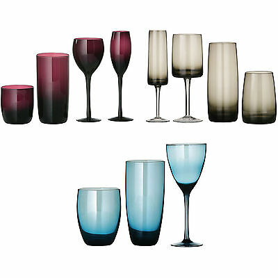 Set Of Contemporary Red Wine Champagne Hi-Ball Tumbler Drinks Goblets Glasses