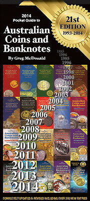 AUSTRALIAN COINS & BANKNOTES 2014 Pocket Guide 21st Edition by GREG McDONALD