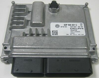 New Genuine Vw Polo 6R 1.2 Cfwa Engine Control Unit Ecu - 03P 906 021 C