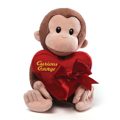 11 inch Curious George Valentine Plush, 11 inch (28 cm) - NEW, by GUND!!