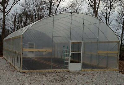 20 x 24 ft Greenhouse - High Sidewall - High Tunnel Kit - Cold Frame Package
