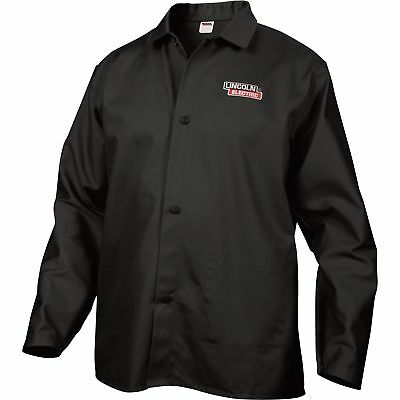 Lincoln Electric Flame-Retardant Welding Jacket - XL Size, 32in. Sleeves, Black