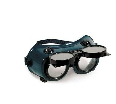 Welding Cutting Welders Safety Goggles Glasses Flip Up Dark Green Lenses New