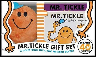 Mr Men Collection - MR TICKLE 2 BOOKS & Soft TOY GIFT SET  ROGER HARGREAVES