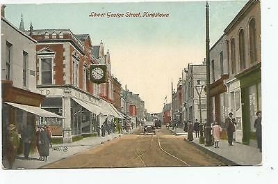 irish postcard ireland dublin dun laoghaire lower george street