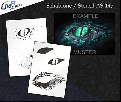 Step by Step Stencil AS-145 Reptile ~ UMR Airbrush Schablone