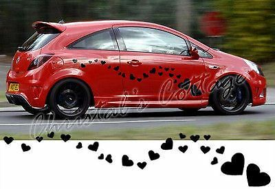 24 Large Heart Shape Vinyl Car Vehicle Wall Graphic Sticker Decal 9 Colour