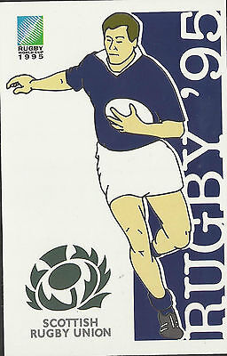 SOUTH AFRICA 1995 RUGBY WORLD CUP SCOTLAND Pre Stamped POSTCARD
