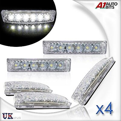 4X 12V Led Front White Side Marker Lights Lamp Truck Trailer Lorry Bus